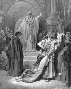 The Judgement of Solomonengraving by Gustave Doré (1832-1883)