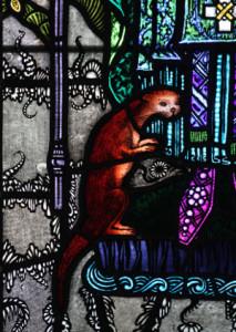 Otter from Harry Clarke Window
