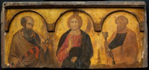 Pietro Lorenzetti (1280-1348), Christ between Sts Peter and Paul